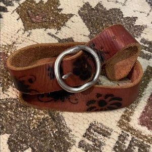 Women's Leather Patterned Belt